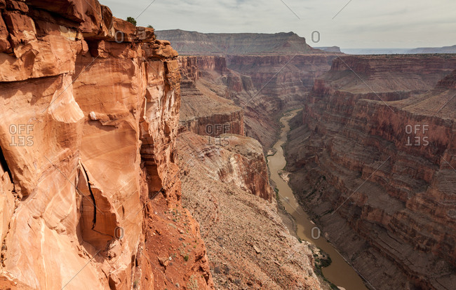 The Colorado River and the North Rim of the Grand Canyon