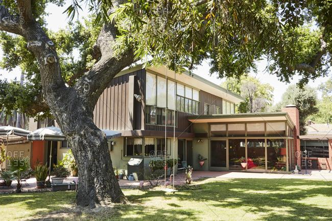 Ontario, California, USA - June 23, 2017: Mid-century modern home by architect Paul R. Williams