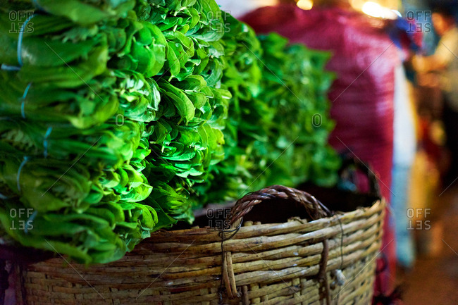 Greens for sale at market