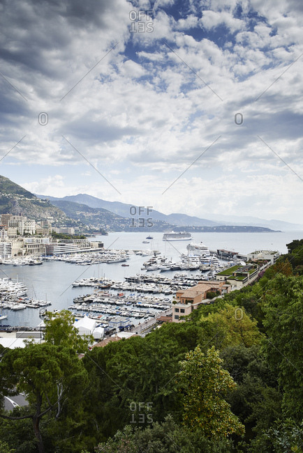 View of coastline, Monte Carlo, Monaco, 2017