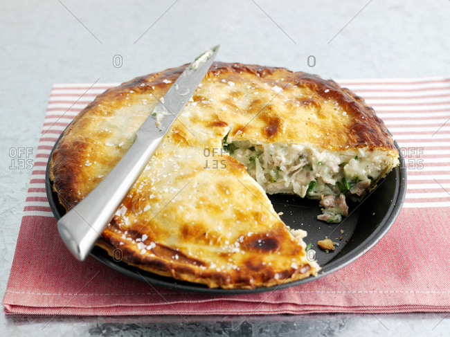 Plate of meat pie