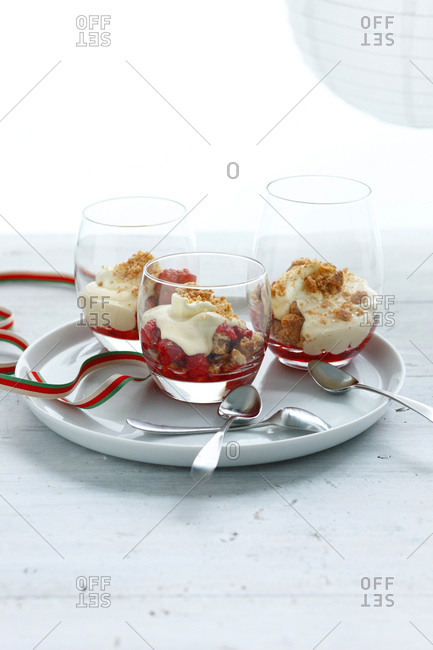 Plate of parfaits
