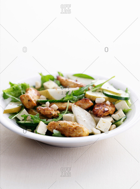 Dish of chicken with vegetables