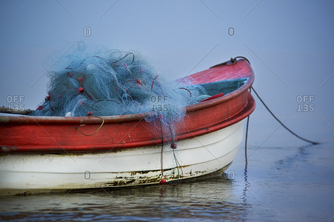 Fishing boats loaded with nets