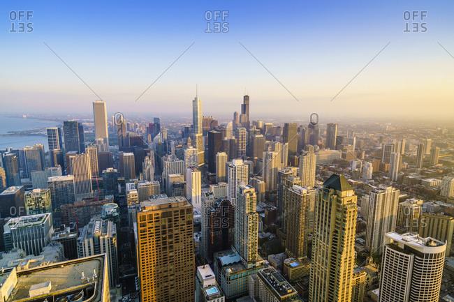 Chicago, Illinois - May 19, 2016: City skyline