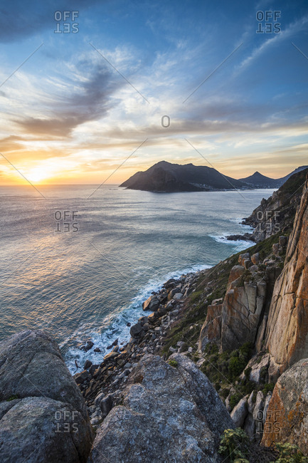Sunset over Hout Bay, Cape of Good Hope, South Africa, Africa
