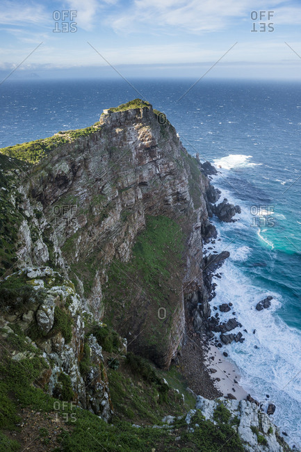 Rocky cliffs on Cape Point, Cape of Good Hope, South Africa, Africa