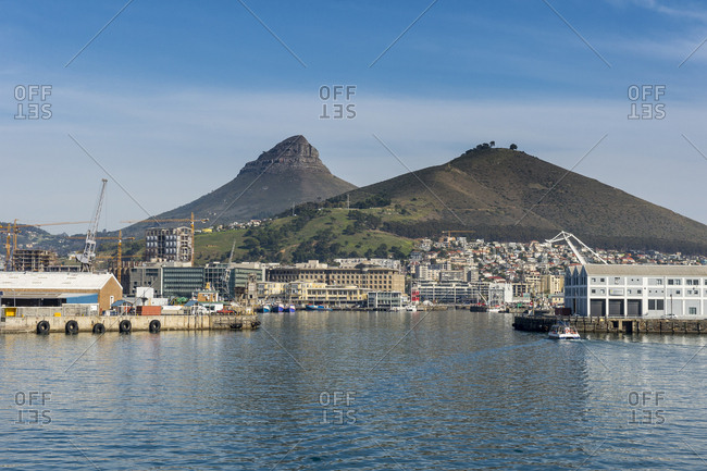 Skyline of Cape Town with Lions Head in the background, Cape Town, South Africa, Africa