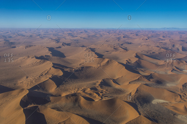 Aerial of the Namib Desert, Namibia, Africa