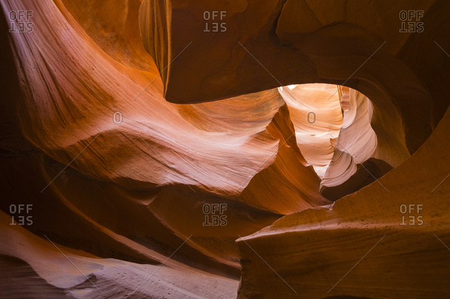 Lights and shadows at Lower Antelope Canyon, Navajo Tribal Park, Arizona, United States of America, North America