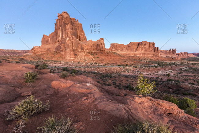 Landscape from La Sal Mountains Viewpoint, Arches National Park, Moab, Utah, United States of America, North America