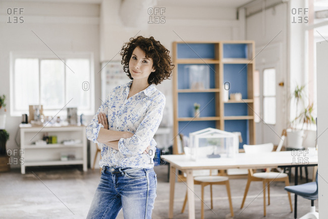 Businesswoman in office looking confident
