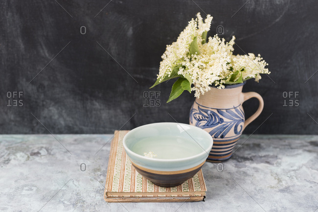 Cup of elderflower tea