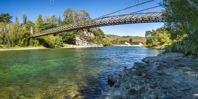 New Zealand- South Island- Southern Scenic Route- Waiau River- Clifden Suspension Bridge