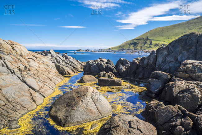 New Zealand- South Island- Southern Scenic Route- Orepuki- Cosy Nook Beach