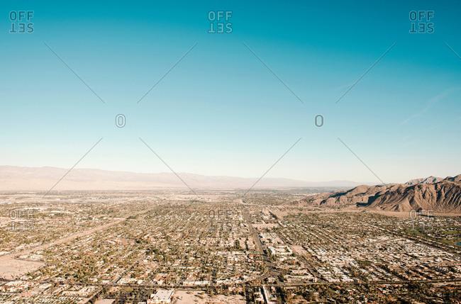 View to Palm Springs, California, USA