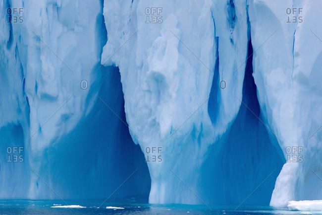 Detail of iceberg, ice floe, in the southern ocean, 180 miles north of East Antarctica, Antarctica