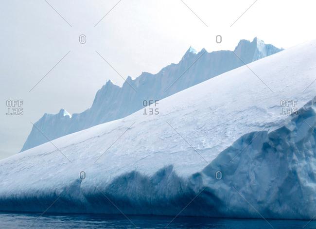 Iceberg, ice floe, in the southern ocean, 180 miles north of East Antarctica, Antarctica