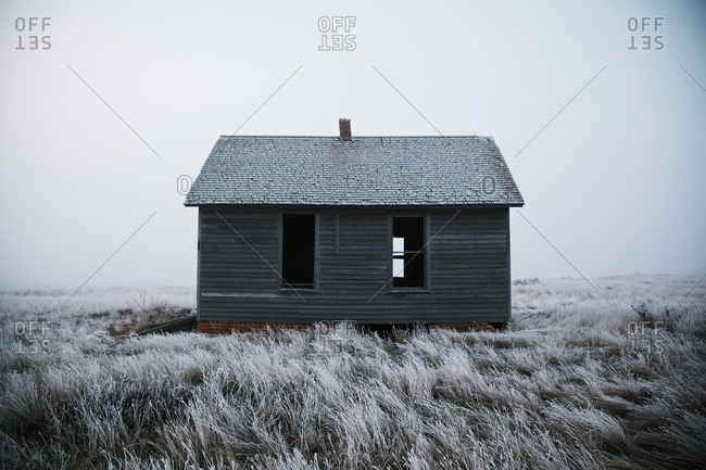 Abandoned house in middle of nowhere