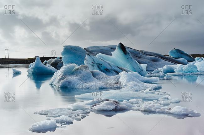 Ice on Jokulsarlon glacier lake, Iceland