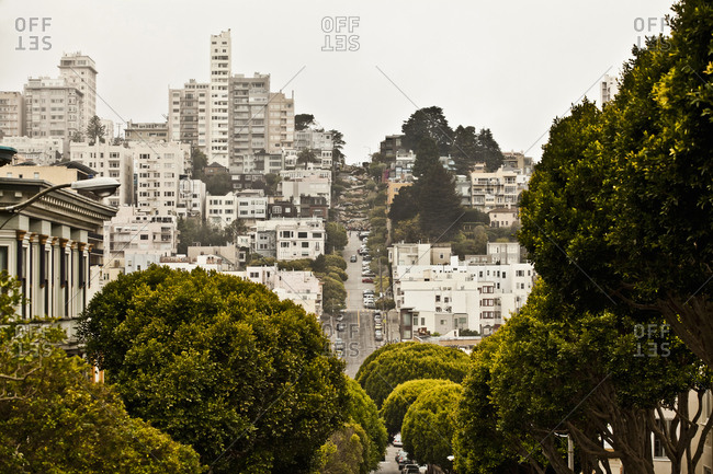 Buildings in residential area, San Francisco, California, USA