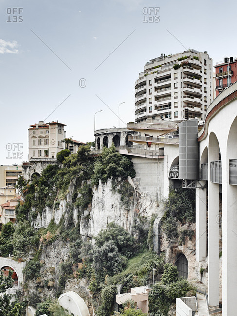 View of highway bridge, Monte Carlo, Monaco