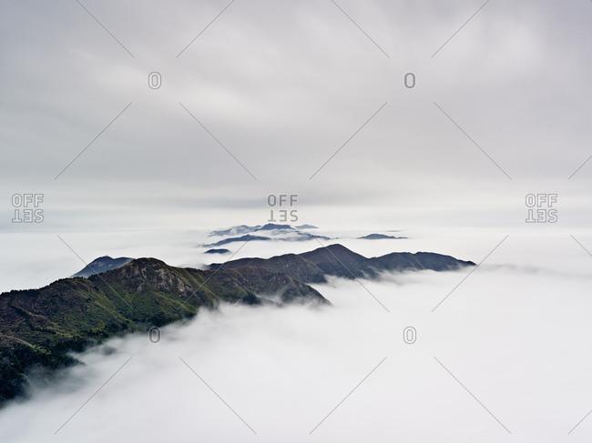 Hengshan mountain in cloud, Nanyue, China.