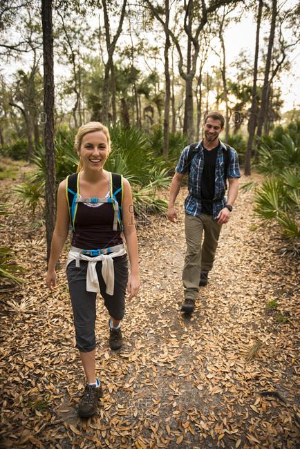 Hikers, Skidaway Island State Park , Savannah, Georgia, USA