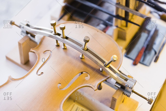Violins in production