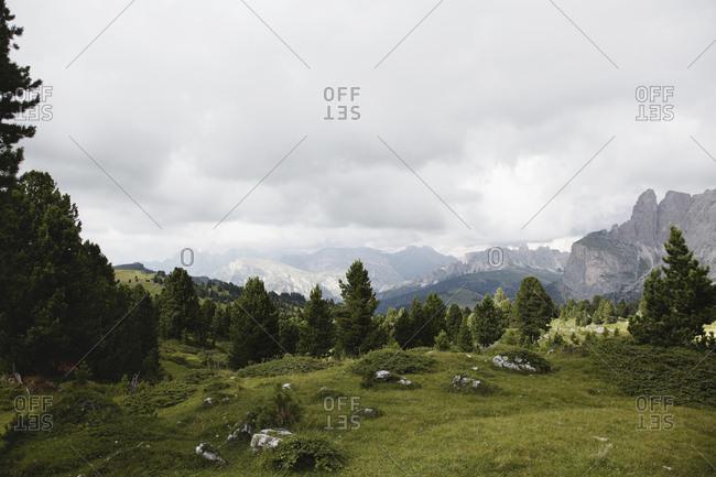 Scenic view, Sella Pass, Dolomites, Italy