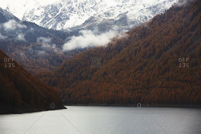 Mountains and lake, Val Senales, South Tyrol, Italy