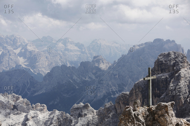 Via Ferrata, Monte Cristallo, Dolomites, Italy