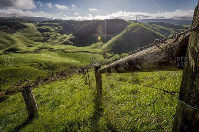 Beautiful farmland overlooking rolling hills