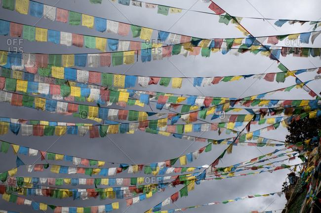 Prayer flags in Tibet, China