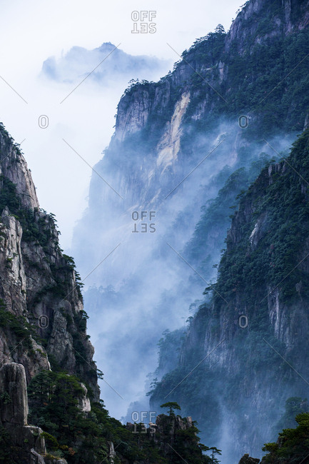 Mt Huangshan in Anhui province, China