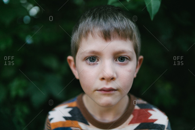 Boy looking directly at camera