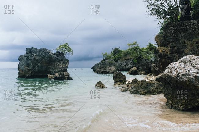 Padang Padang Beach in Bali, Indonesia.