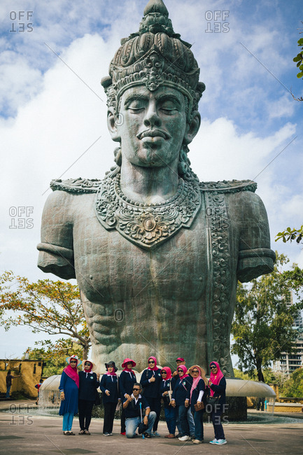 4/3/17: A large stone statue of Wisnu at GWK Cultural Park in Bali, Indonesia.