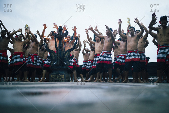 4/4/17: A traditional kecak performance at Ulawatu Temple in Bali, Indonesia.