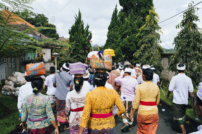 4/9/17: A village ceremony in northern Bali, Indonesia.