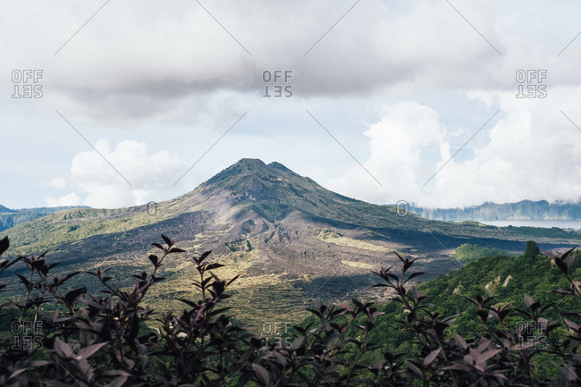 A view of Mount Batur in northern Bali, Indonesia.