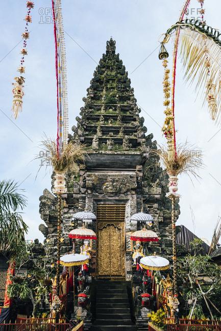 A small ornate temple near Mount Batur in northern Bali, Indonesia.