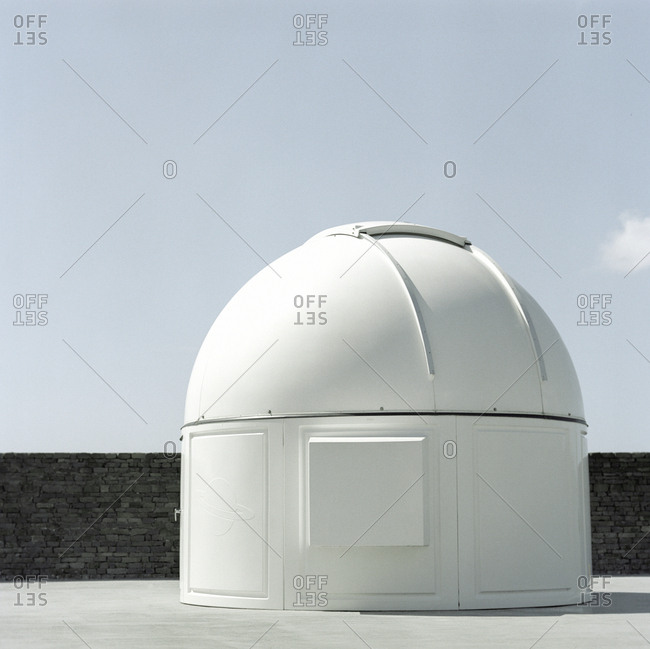 Observatory dome and blue sky