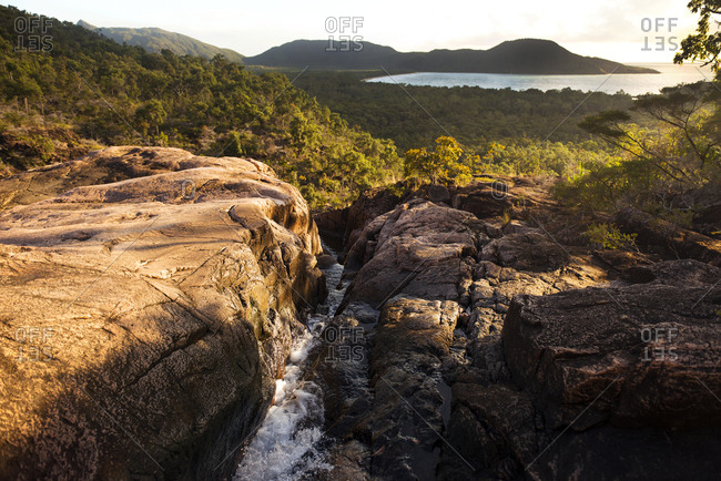 View from the top of Zoe Falls on Hinchinbrook Island, Australia