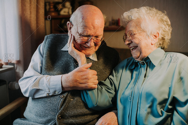 Old married couple in love