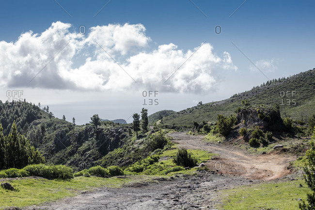 hiking trail 16 on La Gomera, Los Roques, Spain,