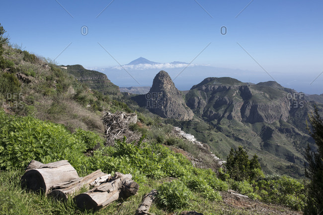 View to Los Roques, La Gomera, Spain,