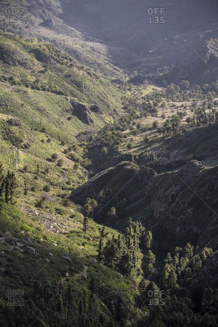 Valley view at the Mirador de los Roques, La Gomera, Spain