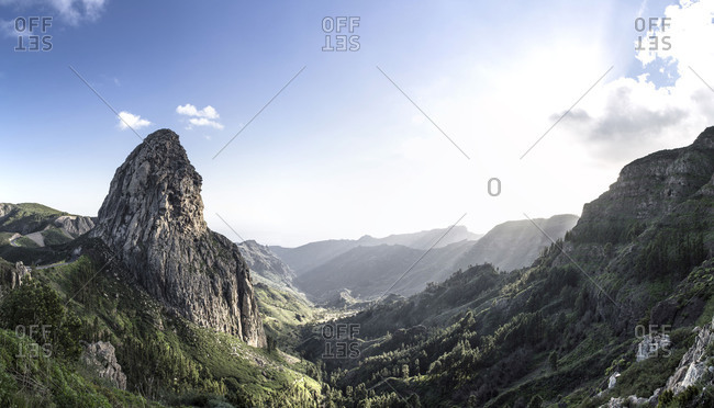 View to Los Roques, La Gomera, Spain