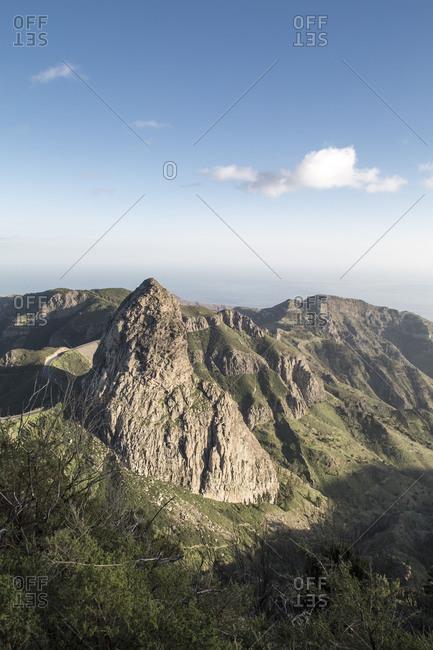 View to Los Roques, La Gomera, Spain